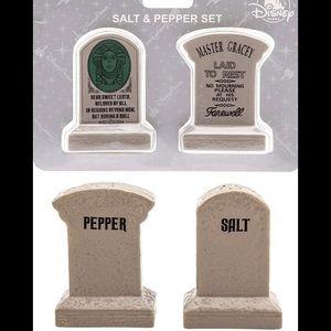 Disney Haunted Mansion Tombstone Leota Master Gracey Salt and Pepper Shaker
